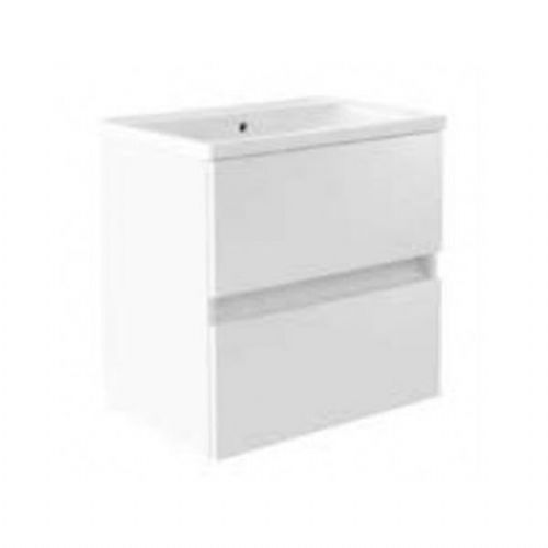 Kartell Ikon 2-Drawer Wall Mounted Vanity Unit With Basin - 600mm - White